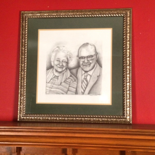 Pencil - Portrait A | Older Couple Realism