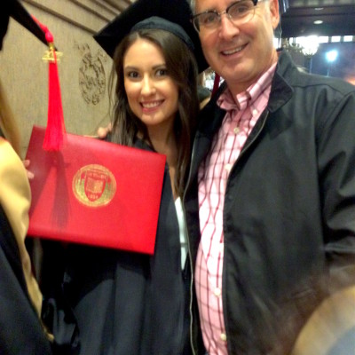 Graduation 2017 - Alexandra & Dad at Carnegie Hall.